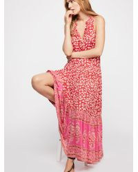 18b6a6aec7 Lyst - Free People Delirium Maxi Dress in Red