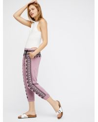 Free People - Red Fp One Three Wishes Sweatpants - Lyst