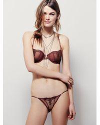Free People | Brown Fancy Back String Bikini | Lyst