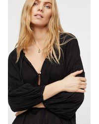 Free People - Black In The Moment Dress - Lyst