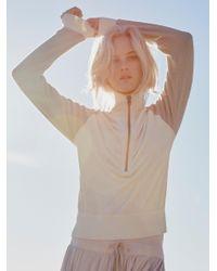 Free People | Natural Feelin' Velour Half Zip Pullover | Lyst