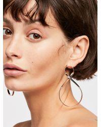 Free People - Multicolor Infinity Hoop Earrings - Lyst