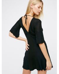 Free People | Blue Find Your Love Pointelle Mini | Lyst