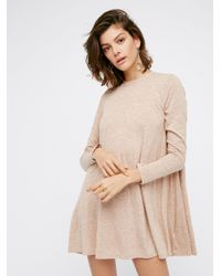Free People | Natural First Date Dress | Lyst
