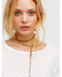 Free People | White Flawed Leather Wrap Bolo | Lyst