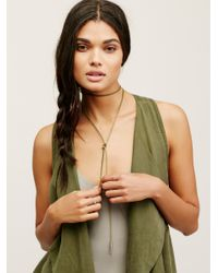 Free People | Multicolor Flawed Leather Wrap Bolo | Lyst