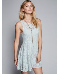 Free People | Blue Forever And Ever Lace Dress | Lyst