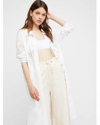 Free People | White Fp Beach Moonrise Maxi Cardigan | Lyst