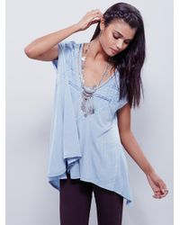 Free People - Blue Fp X Abigail Tee - Lyst