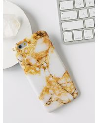 Free People | Metallic Galaxy Marble Iphone Case | Lyst