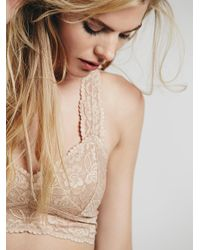 Free People - Natural Galloon Lace Racerback - Lyst