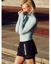 Free People - Blue Get Movin' Smooth Turtleneck - Lyst