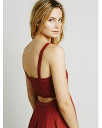 Free People - Red Girlfriend Material Dress - Lyst