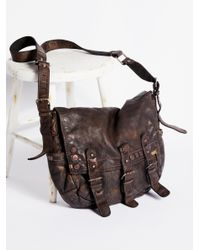 Free People | Brown Glade Leather Messenger | Lyst