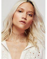 Free People - Metallic Good Vibes Chain Collar - Lyst