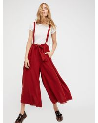 Free People | Red Hop To It Maxi Jumper | Lyst