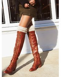Free People | Blue Joe Lace Up Boot | Lyst
