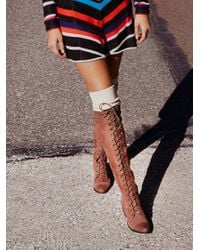 Free People | Brown Joe Lace Up Boot | Lyst