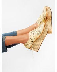 Free People   Natural Jules Platform Menswear Loafer   Lyst