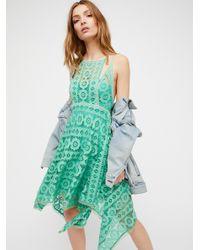 Free People | Green Just Like Honey Mini Dress | Lyst