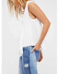 Free People | White Kimmy Tee | Lyst