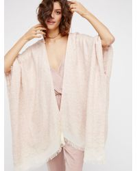 Free People Natural Knubby Hooded Kimono