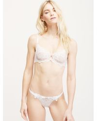 Free People - White Lace Me Up Thong - Lyst