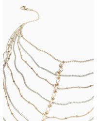 Free People - Metallic Lava Falls Layered Collar - Lyst