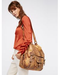 Free People | Brown Leopardito Messenger Bag | Lyst
