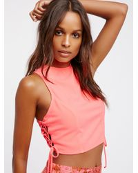 Free People   Multicolor Let's Kick It Shell Top   Lyst