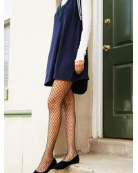 Free People | Black Libby Fishnet Tight | Lyst