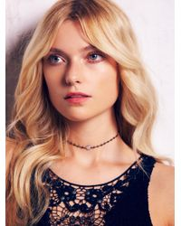 Free People - Metallic Libi Stone Choker - Lyst