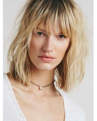 Free People - Brown Libi Stone Choker - Lyst