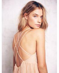 Free People - Natural Like A Diamond Chiffon Dress - Lyst