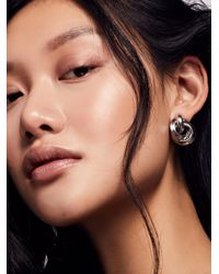 Free People | Metallic Lili Mini Chain Hoops | Lyst