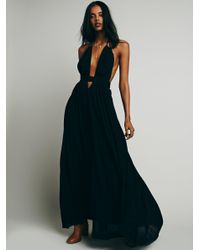 Free People | Black Look Into The Sun Maxi | Lyst