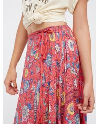 Free People   Multicolor Lovebird Half Moon Maxi Skirt   Lyst