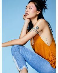 Free People | Blue Low Tide Patina Armband | Lyst