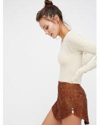 Free People | Multicolor Malabar Lace Mini Skirt | Lyst