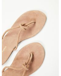 Free People | Natural Malia Slip-on Sandal | Lyst