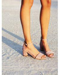 Free People | Pink Marigold Block Heel | Lyst