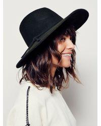 Free People | Black Matador Hat | Lyst