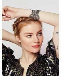 Free People | Metallic Lace Cuff | Lyst