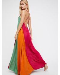 Free People | Multicolor Mixin' It Up Maxi Dress | Lyst