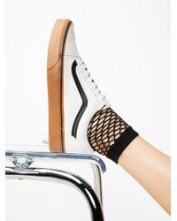 Free People | Black Mood Fishnet Anklet | Lyst