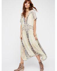 Free People | Natural New Romantics Gardenia Fog Dress | Lyst
