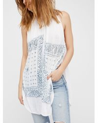 Free People | White New Romantics Good Vibes Top | Lyst