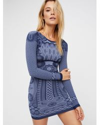 Free People | Blue Now You See Me Bodycon | Lyst