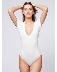 Free People | White Oh Me Oh My Bodysuit | Lyst