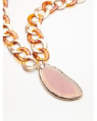 Free People - Multicolor Olympus Acrylic Mixed Agate Pendant - Lyst